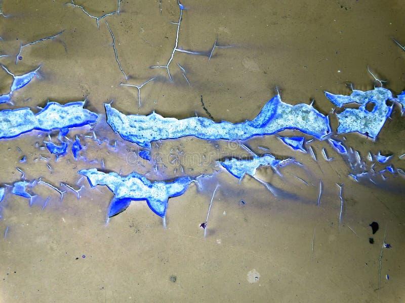 Danno di erosione della ruggine del bacground della superficie di metallo immagini stock