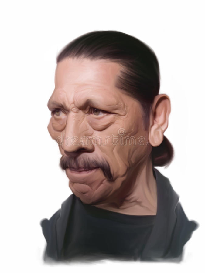 Danny Trejo caricature. For editorial use for newspapers, magazines and web