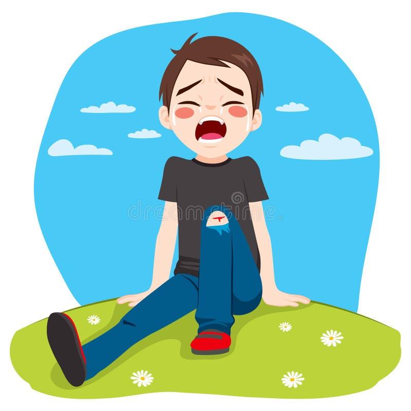 Dano de grito do menino ilustração do vetor