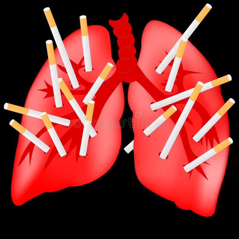 Dano do fumo ilustração royalty free