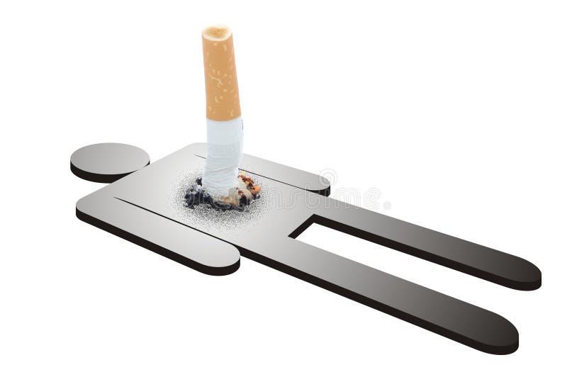 Dano do fumo imagens de stock