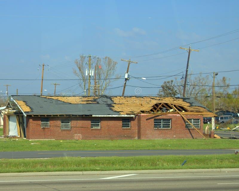 Dano do furacão fotografia de stock