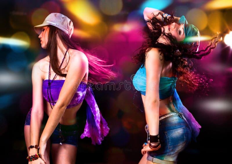 Dans 1 van de disco stock afbeelding