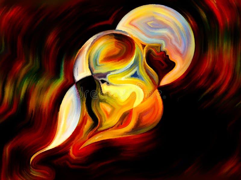 Dans av inre målarfärg stock illustrationer