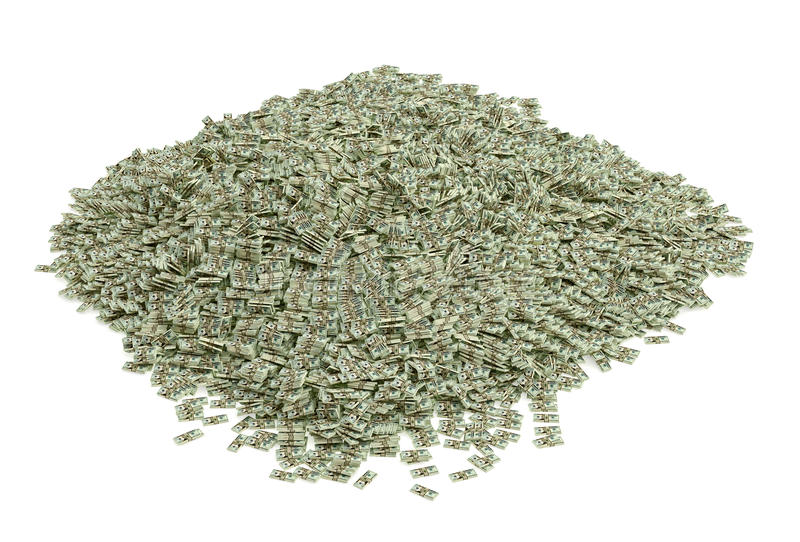 30.000.000$ dans 20 billets d'un dollar illustration libre de droits
