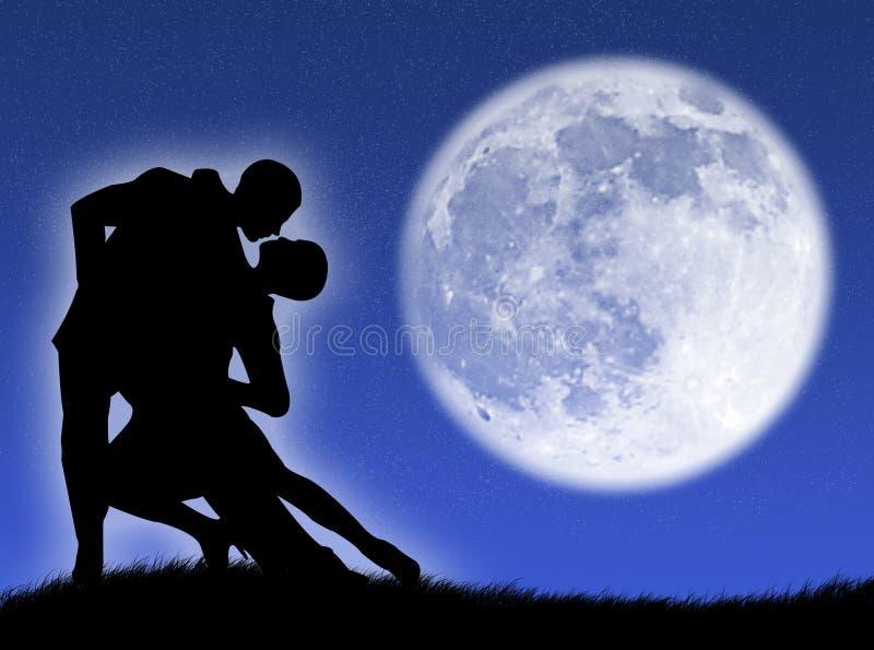 Dans in de maan vector illustratie