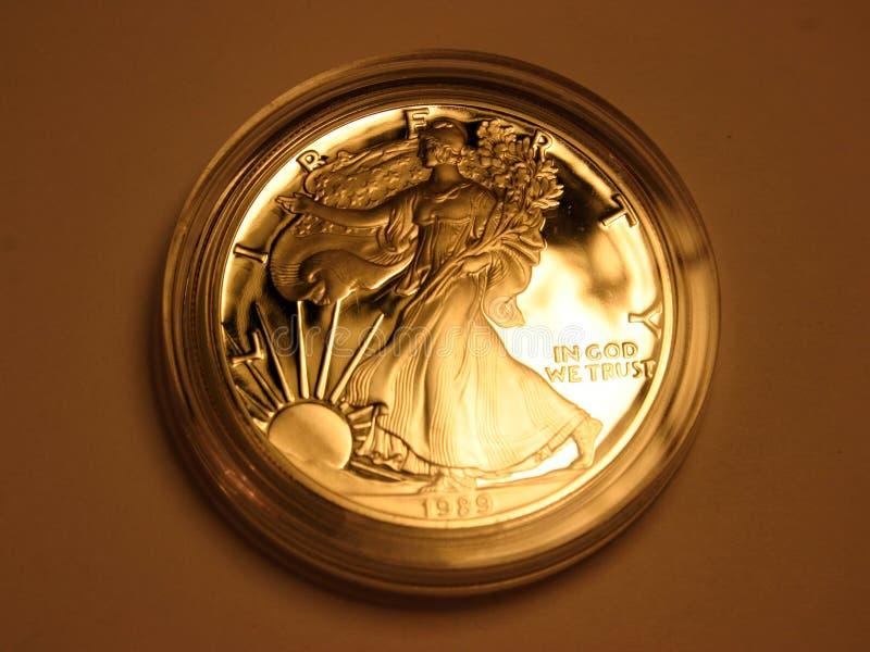 Download Dans Dieu Nous Faisons Confiance Photo stock - Image du numismatics, changement: 58776