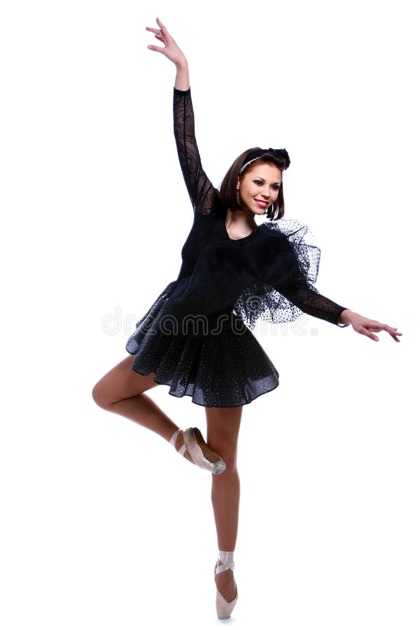 dans för dans för ballerinabalett härlig royaltyfri foto