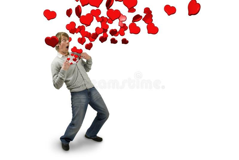 Dans l'amour image libre de droits