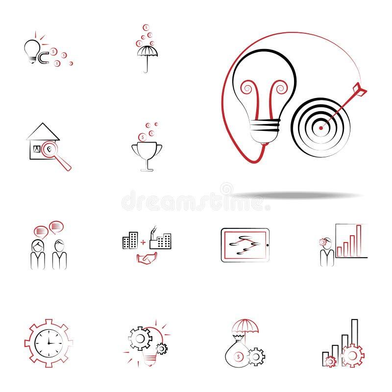 But dans l'idée et l'icône de cible Ensemble universel d'icônes d'affaires et de gestion pour le Web et le mobile illustration stock