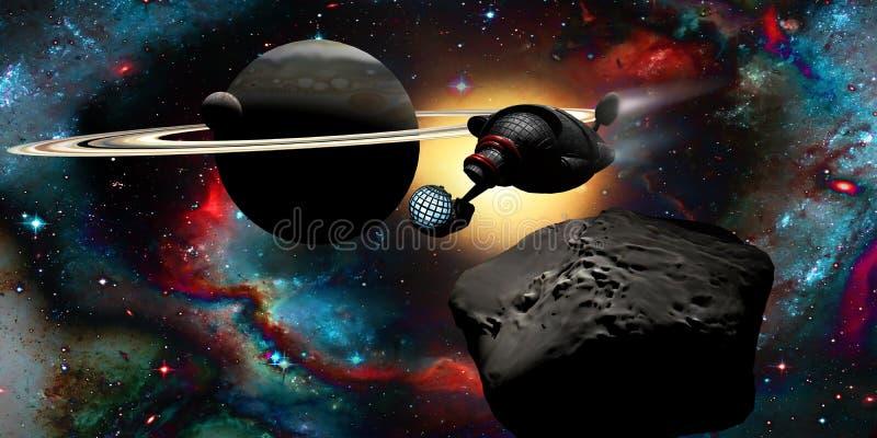Dans l'outerspace illustration libre de droits