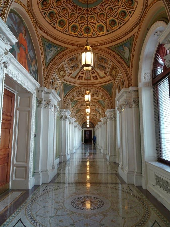 Dans la Bibliothèque du Congrès photos libres de droits