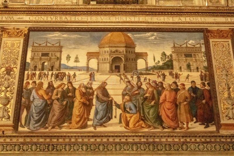 Dans la chapelle de Sistine photographie stock libre de droits