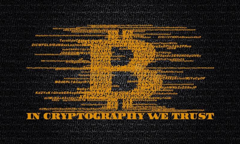 DANS LA CRYPTOGRAPHIE NOUS FAISONS CONFIANCE illustration stock
