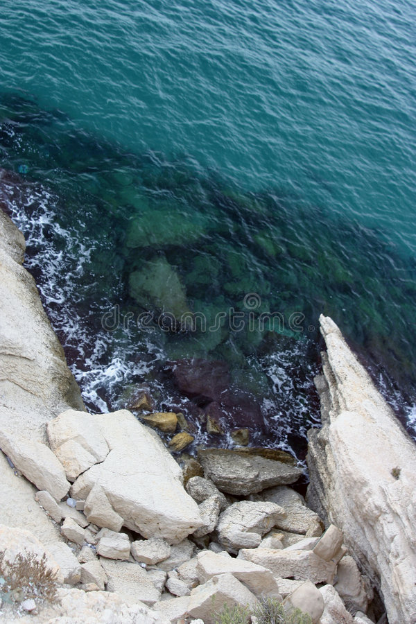Dans la mer photo libre de droits