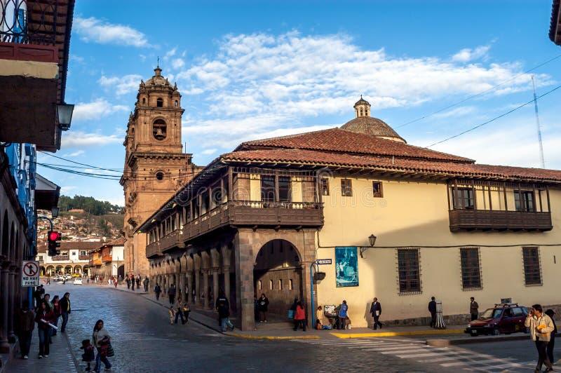 Dans la rue de Cuzco image libre de droits
