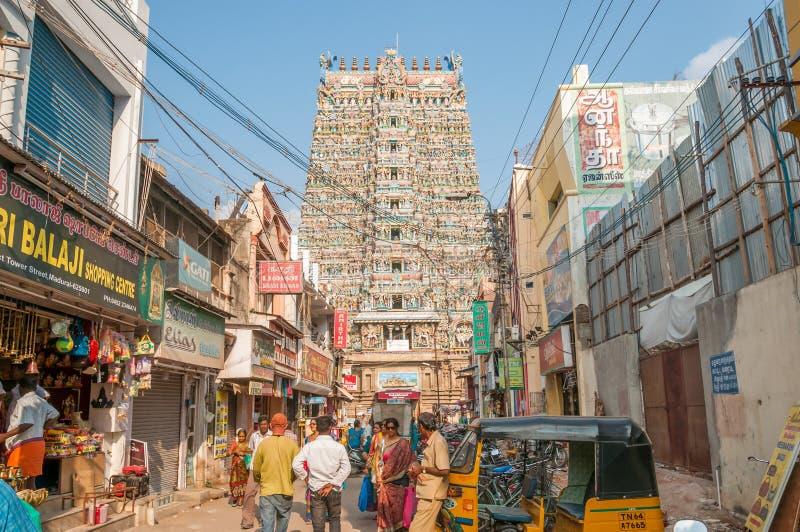 Dans la rue de Madurai photographie stock libre de droits