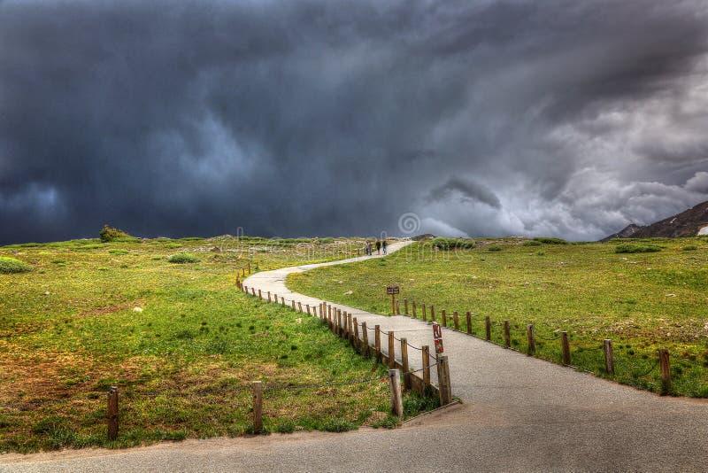 Dans la tempête, passage de l'indépendance, le Colorado photo libre de droits