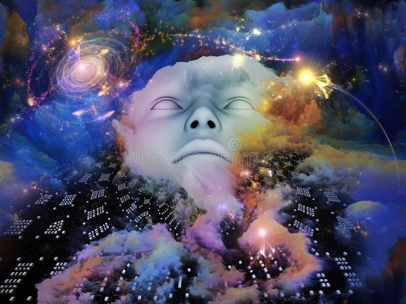 Dans la terre des rêves oubliés. illustration stock