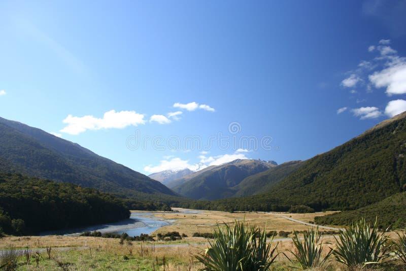 Dans la vallée, la Nouvelle Zélande photographie stock libre de droits