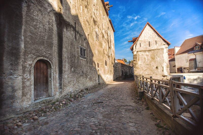 Dans la vieille ville Tallinn photographie stock libre de droits