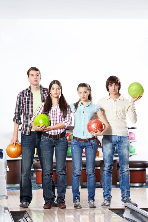 Dans le bowling image libre de droits