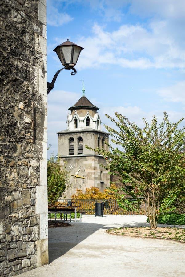 Dans le centre ville de Genève photo libre de droits