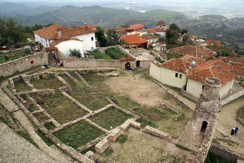 Dans le château Kruje image stock