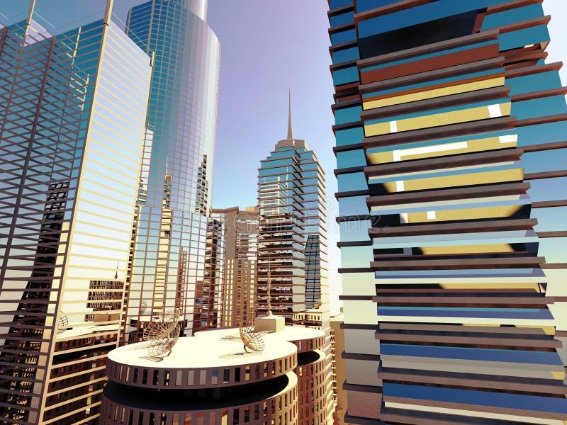 Dans le cityline images stock