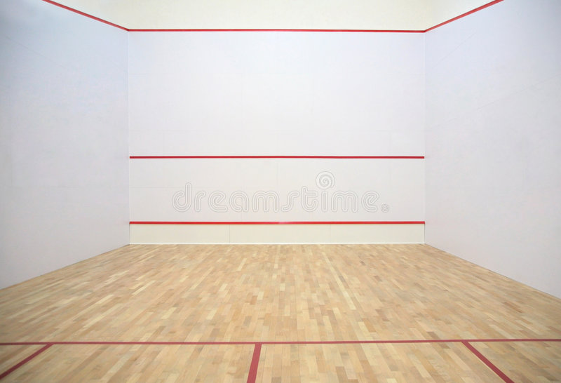 Dans le hall de tennis de sports image libre de droits
