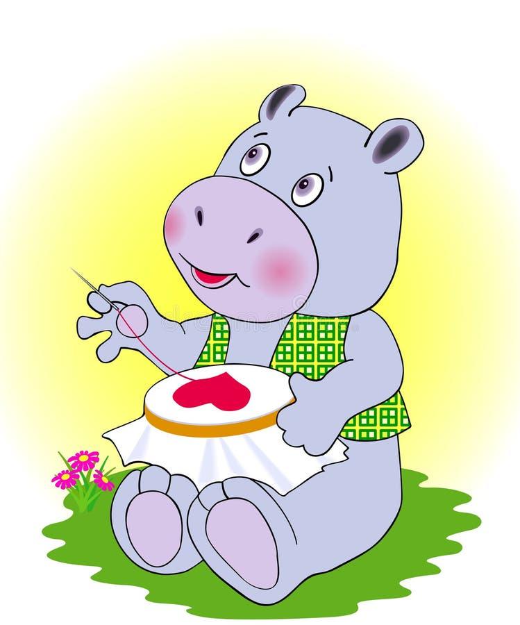 Dans le hippopotamus d'amour illustration libre de droits