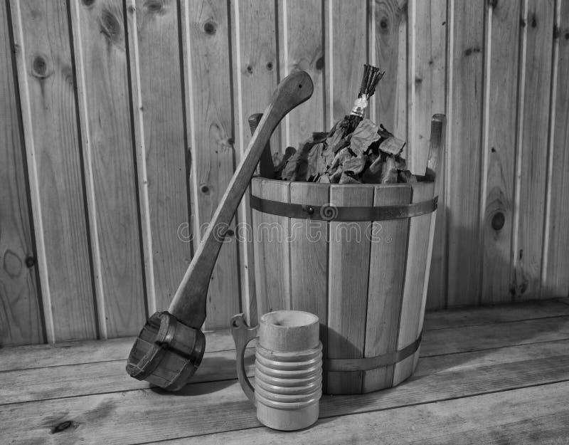 Dans le sauna image libre de droits