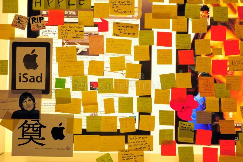 Dans le souvenir de Steve Jobs photographie stock libre de droits