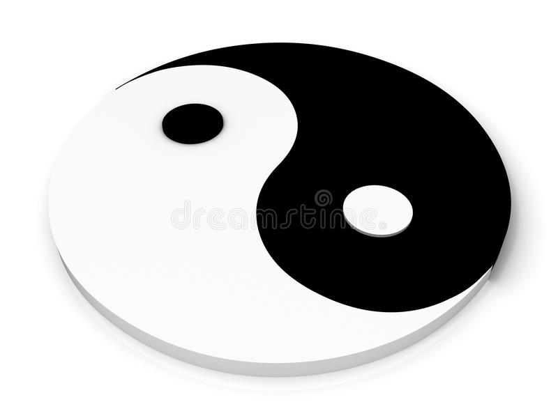 Dans le symbole de yan illustration libre de droits