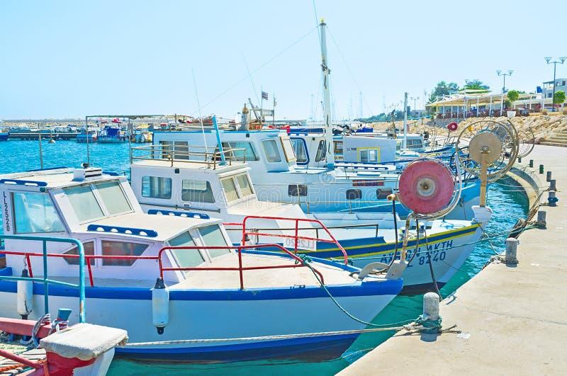 Dans le village de pêche images libres de droits