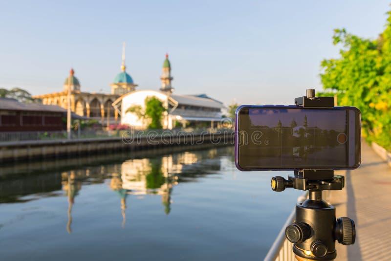 Dans les coulisses de la mosquée visuelle de Darul Muttakin d'agrafe à Bangkok, la Thaïlande photos libres de droits