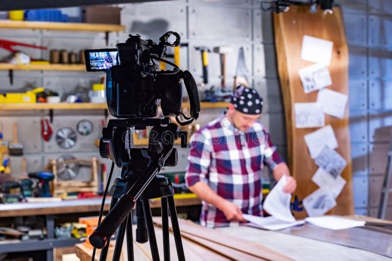 Dans les coulisses du tir visuel de production ou de vidéo images libres de droits