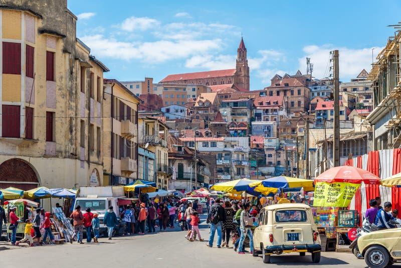 Dans les rues d'Antananarivo image stock