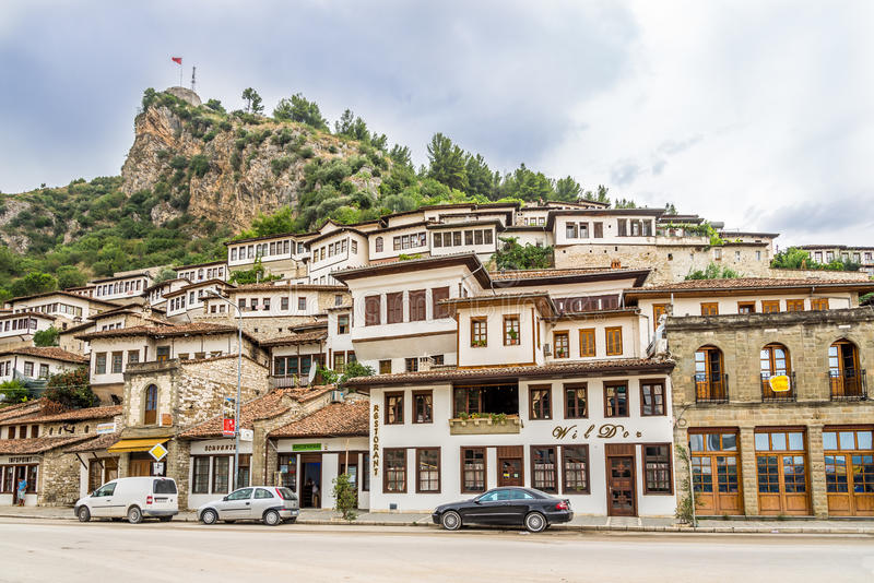 Dans les rues de Berat photo libre de droits