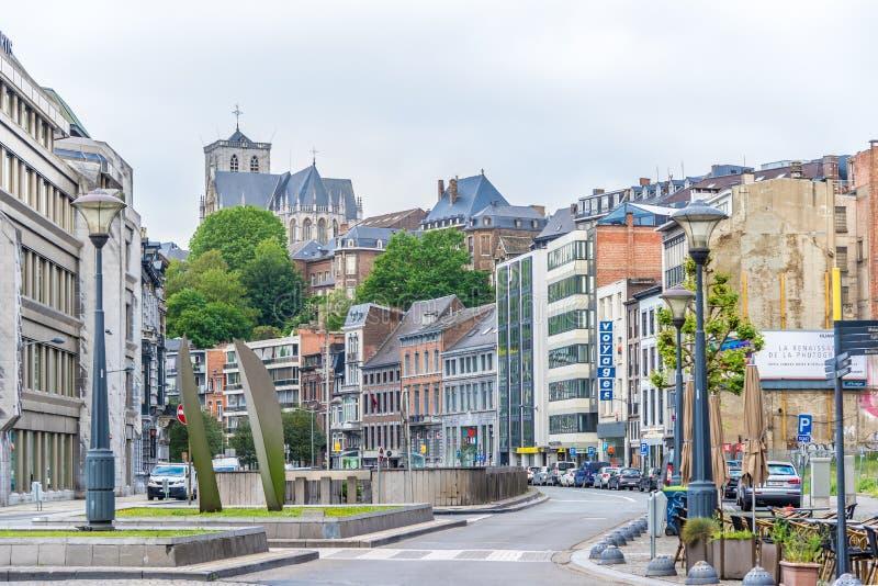 Dans les rues de Liège - la Belgique photos stock