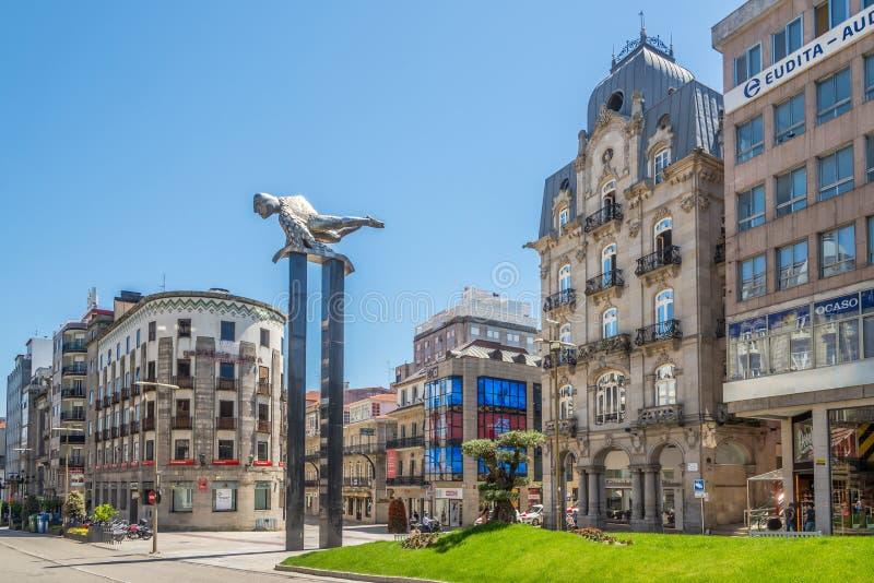 Dans les rues de Vigo en Espagne photo libre de droits