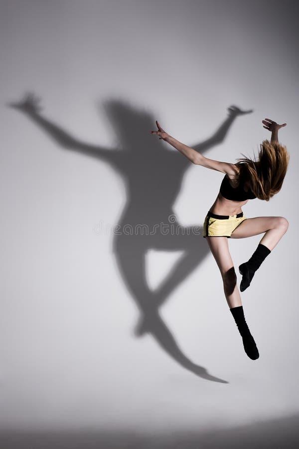 Dans met schaduw stock foto's
