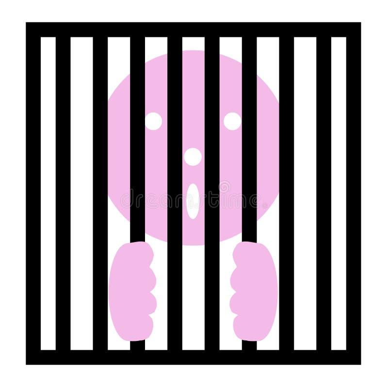 Dans mis en cage illustration stock