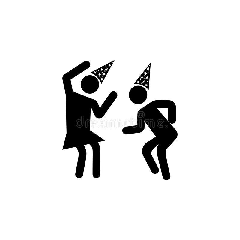 dans på partisymbolen Beståndsdel av partisymbolen för mobila begrepps- och rengöringsdukapps Den detaljerade dansen på partisymb vektor illustrationer