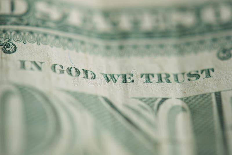 Dans un dieu nous faisons confiance photos libres de droits