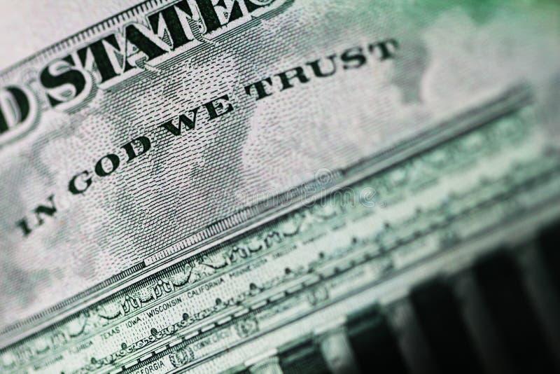 Download Dans Un Dieu Nous Faisons Confiance Photo stock - Image du financier, affaires: 77159842