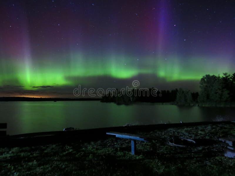 Dans van de Noordelijke Lichten royalty-vrije stock foto's