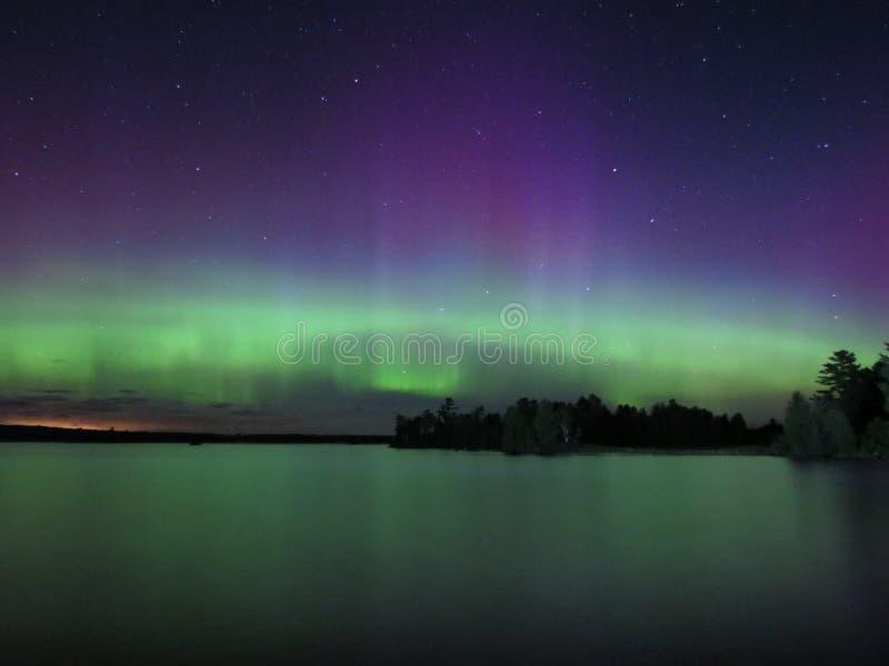 Dans van de Noordelijke Lichten stock fotografie