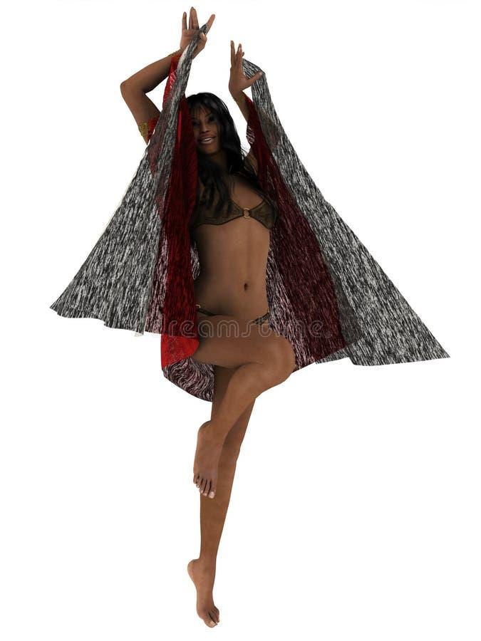 Dans van de zeven sluiers stock illustratie