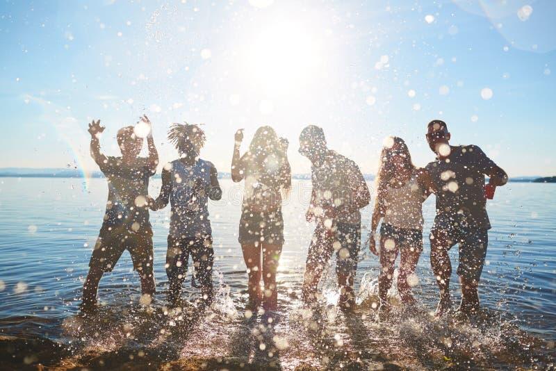 Dans in water royalty-vrije stock foto